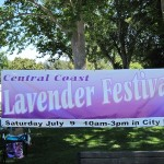 Sign for Third Annual Central Coast Lavender Festival, Paso Robles, 2011