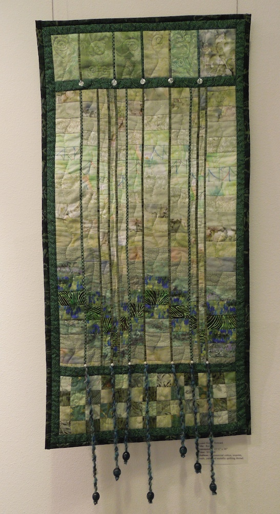 """Rain,"" an Art Quilt by Kathy Howard"